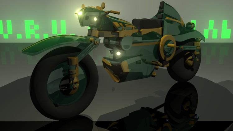 3d motorcyle