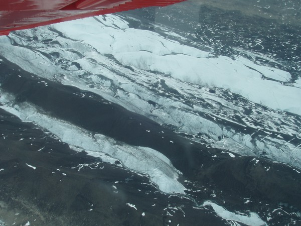 Ruth Glacier on Mt. Mckinley from Small Plane