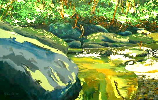 Streamscape #1 (Large Rock)