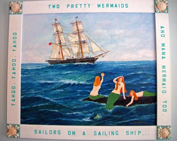 Mermaids, Ship and Sailors