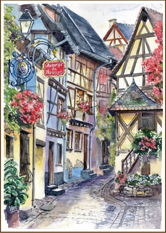 Alley in Alsace