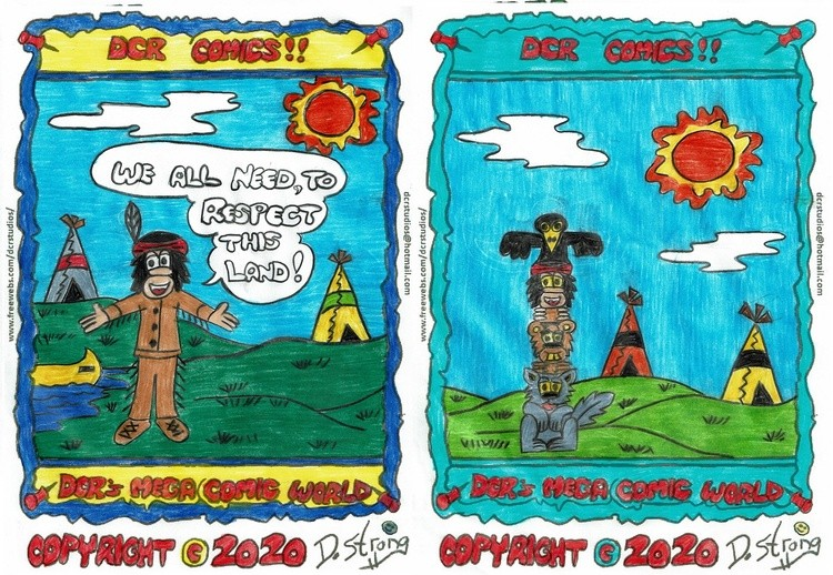 Chief Red Pine and Totem Pole
