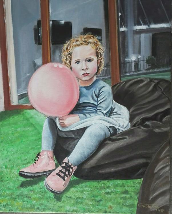 Girl with a ballo