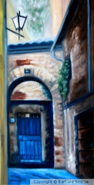 Blue Door in Siena