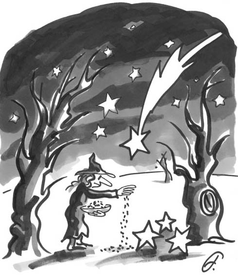 Witch and stars
