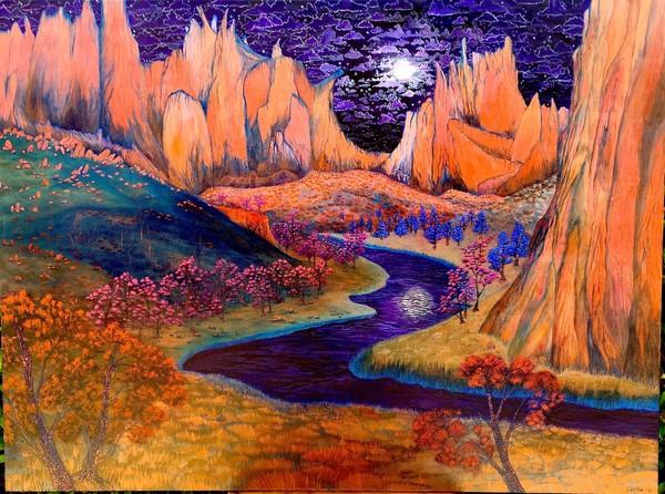 African Violet Skies