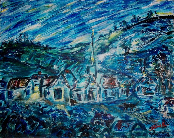 NIGHT OVER THE VILLAGE