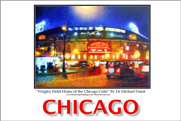 Poster of Wrigley Field-Home of Chicago Cubs