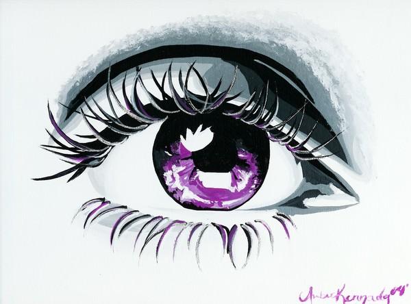 Eye Of Lavender Sparkles