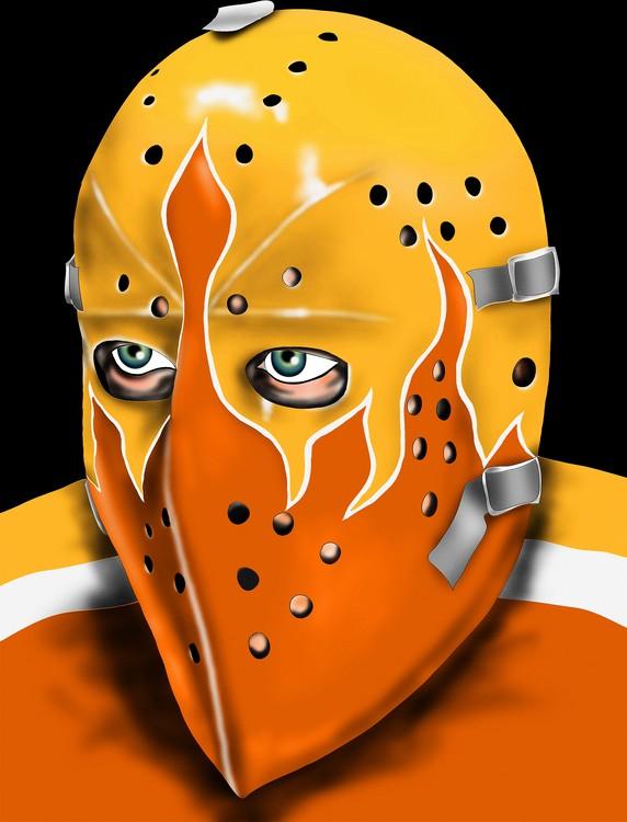 Philadelphia Hockey Goalie Mask Bernie Parent