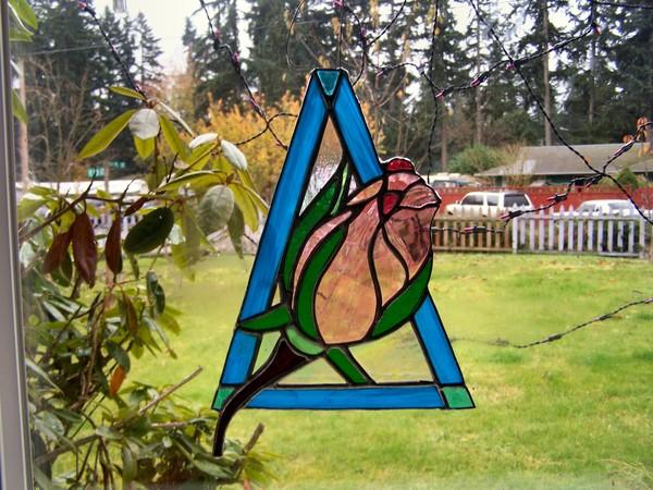 Triangle and Rose Sun Catcher