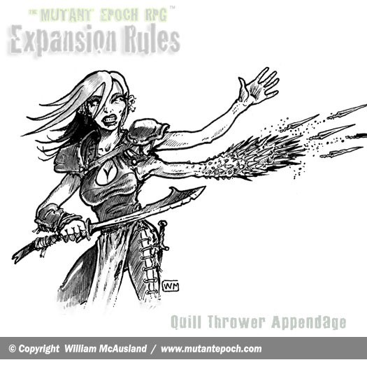 The-Mutant-Epoch RPG-Expansion-Rules-Art-Quill-Thrower-mutantess-web