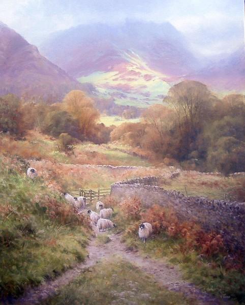 Light over Grasmere Valley, Cumbria