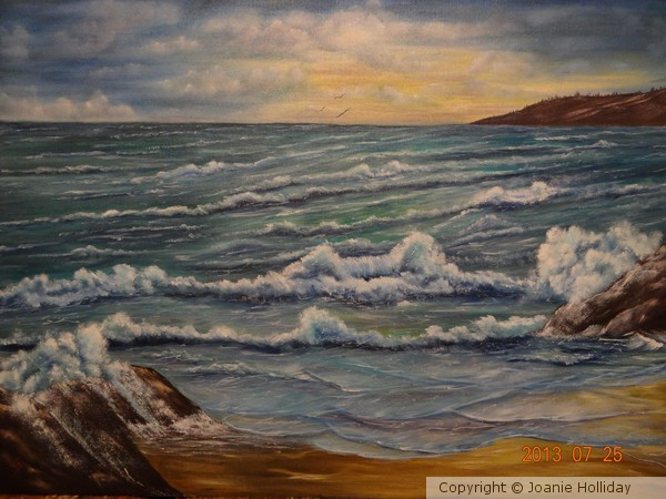 PAINTED YR'S AGO,SEASCAPE-OIL