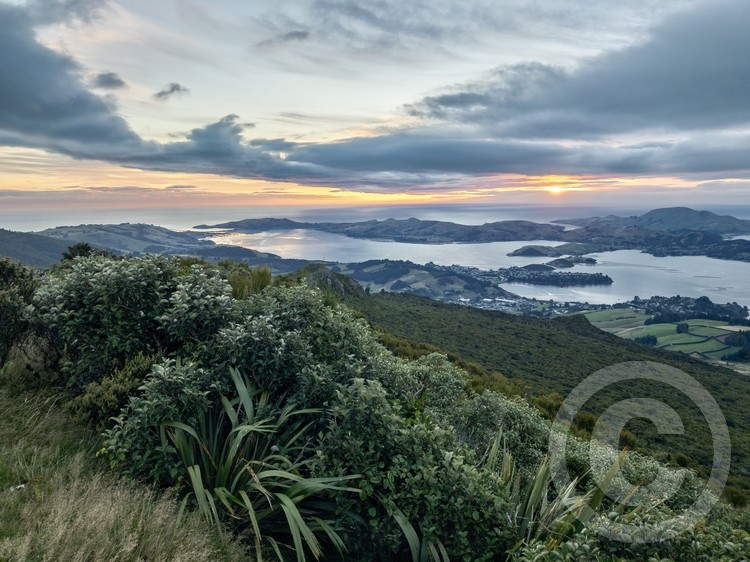 A sunrise looking east from Dunedin, New Zealand