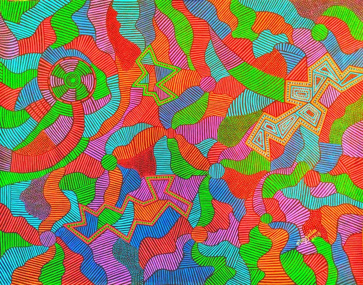 Geometric acrylic original