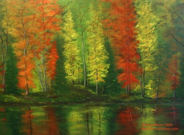 2004-70 HaC 36x48 Autumn River View