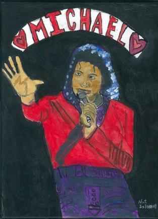 Original Handdone portrait of Michael Jackson