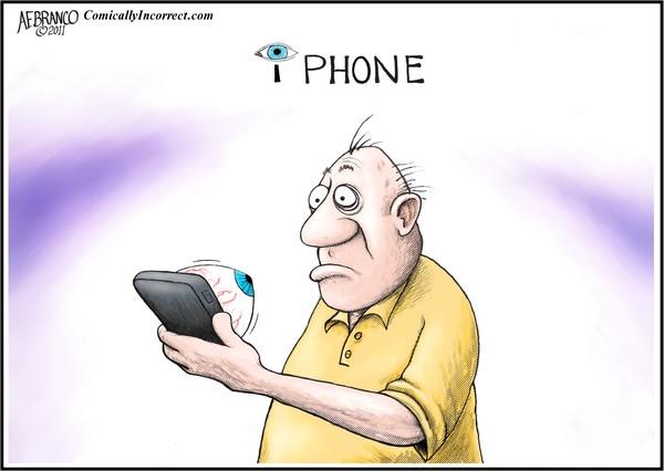 i Phone Watching (cartoon)