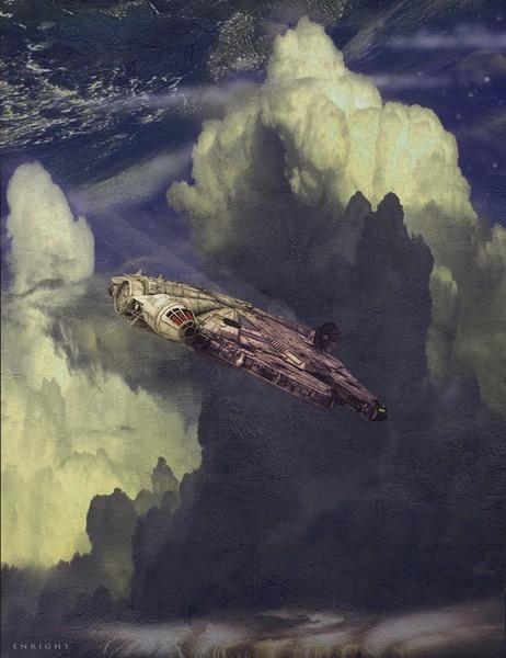 The Millennium Falcon Escapes