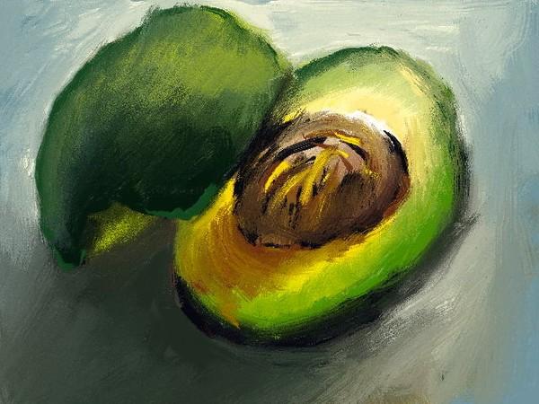 Avocado Still Life 8x10 print