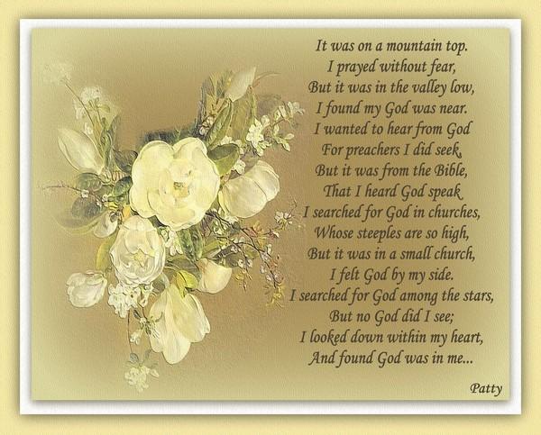 Seeking God...