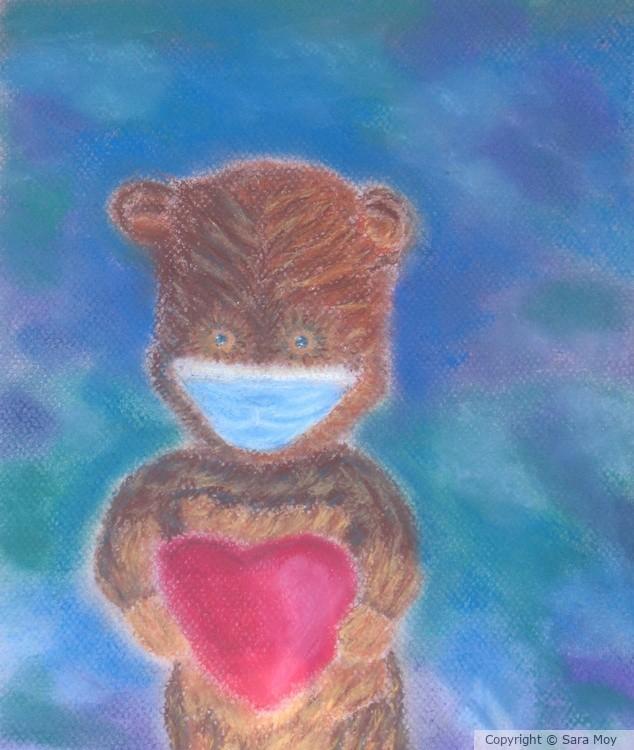 Mask Bear Open Heart