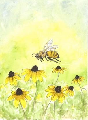 Yippee! I hear a honeybee