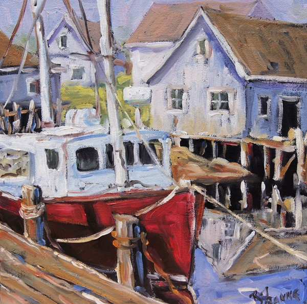 Seascape Peggy's Cove 02 by Prankearts_Sold