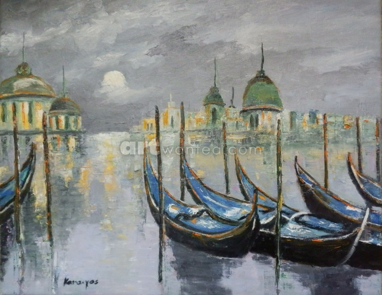 Venice under moonlight