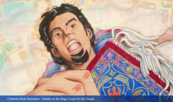 Children's Book Illustration - Aladdin