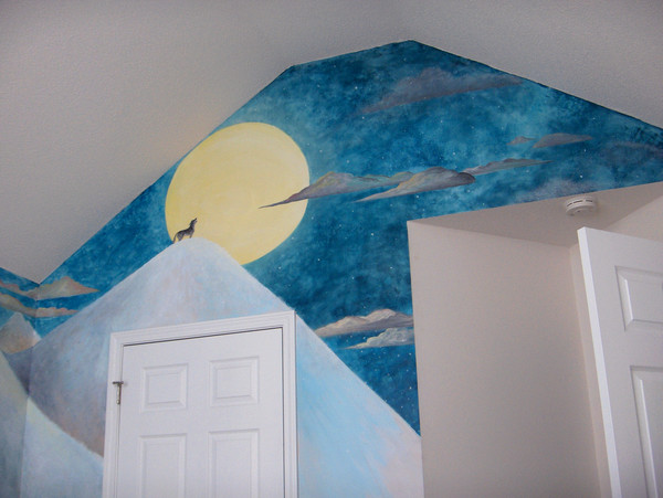 wolf Mural sky