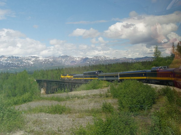 Alaska on Train
