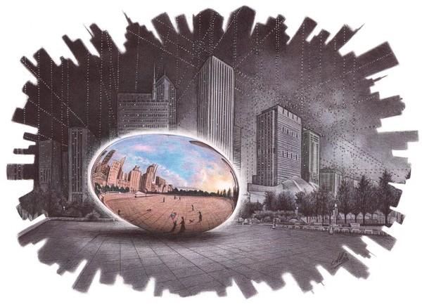 The Egg - Ballpoint pen art