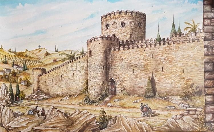 The Southern walls and Alcazba of Alhama de Granada c16th century