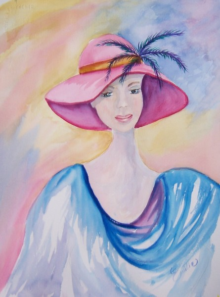 Lady In A Pink Hat