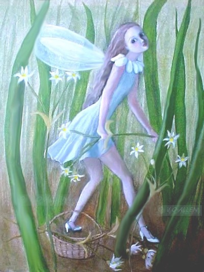 FAIRY PICKING FLOWERS