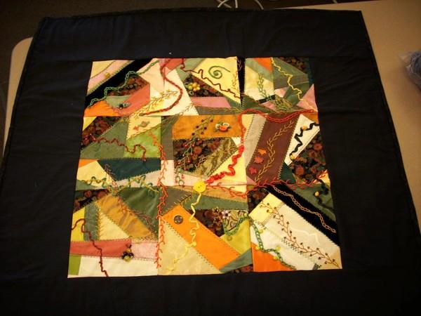 Autumn Crazy Quilt Wall Hanging OOAK