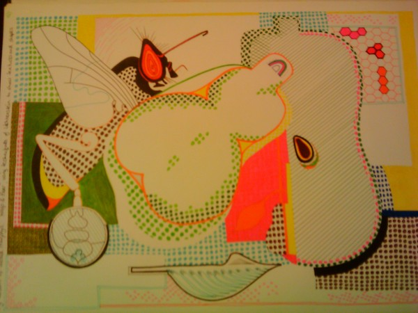 Pop Art Wasp and Pear