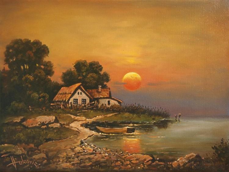 At twilight