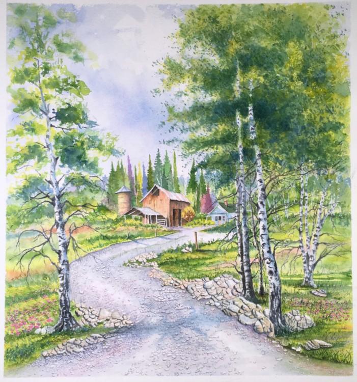 Aspens Trees and Farm