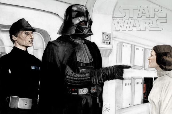 Darth Vader Captures Princess Leia