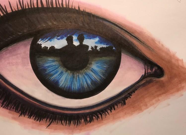 Eye reflection study