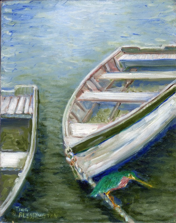 Little Green Egret on Bateau