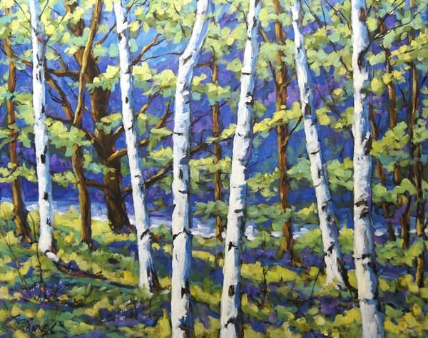 Woodland Birches Large Original Painting