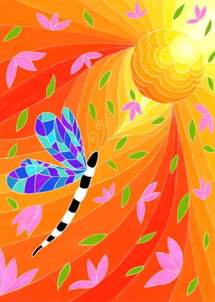 Sun and Dragonfly