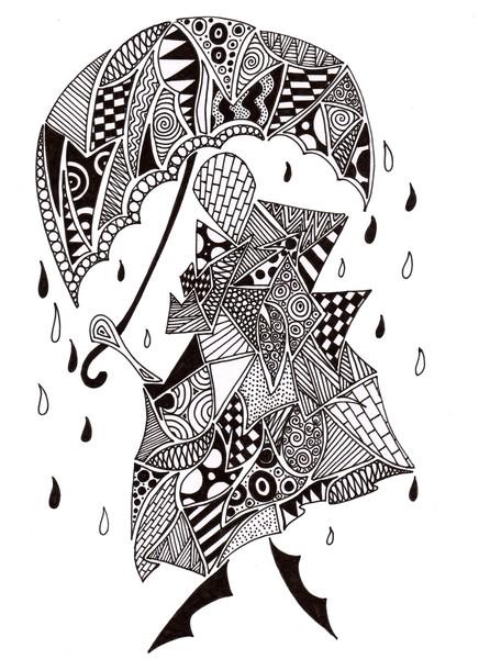 doodling in the rain