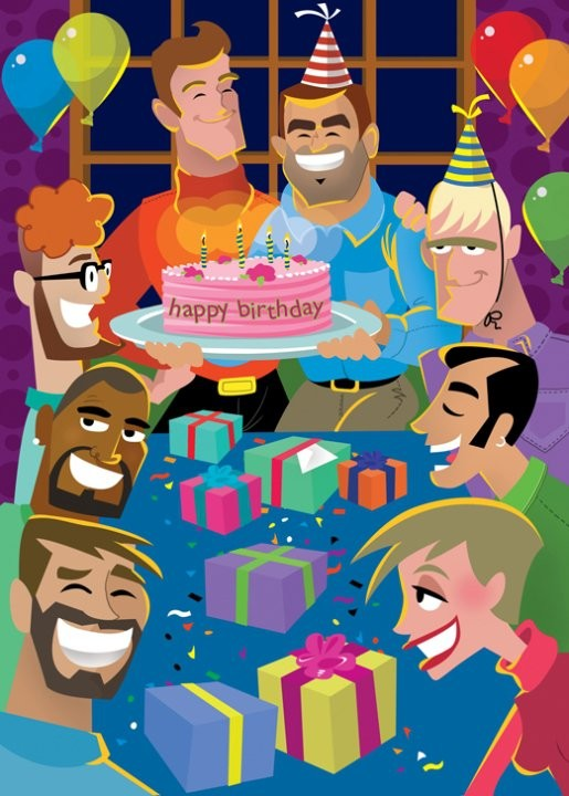 Birthday Party - 10% Greeting Card