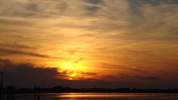 flaming sunset 2014