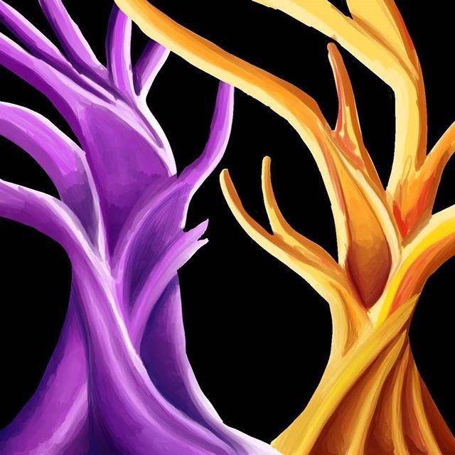 WIP digial painting oil painting styledigitalpainting digitalart trees expressionism clipstudiopaint